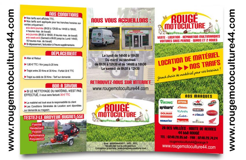 depliant location matériel rougé motoculture