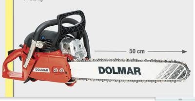 tronconneuse thermique professionnelle PS7910-50, dolmar, promotion 2012 dolmar, rouge motoculture